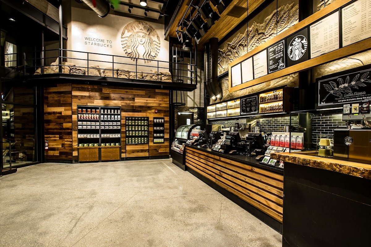 design elements of a retail store environment starbuck